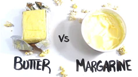 difference between butter and margarine butter vs margarine youtube