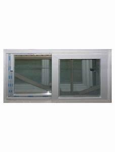 Fenetre Pvc Renovation : fenetre coulissante pvc blanc renovation 2 vantaux hauteur ~ Melissatoandfro.com Idées de Décoration