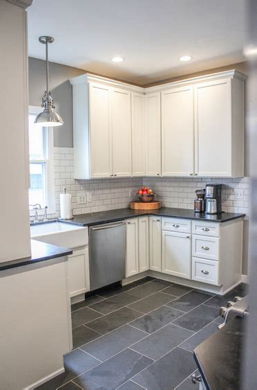 gray kitchen floors i like everything about this look maybe a color for 1325