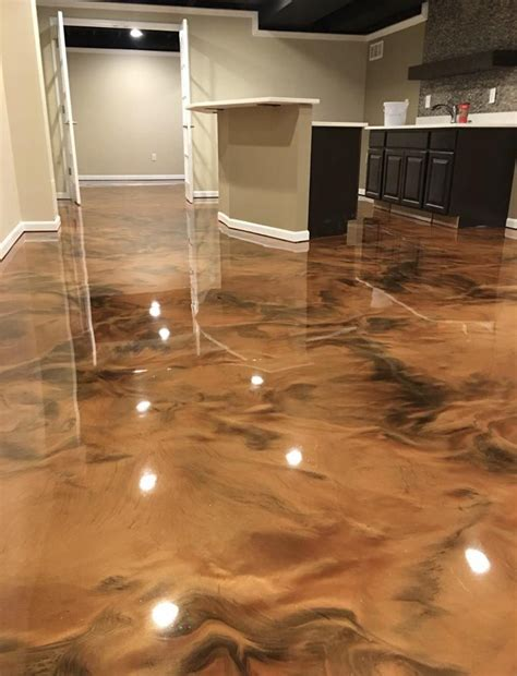 Garage flooring ontario services are now right at your doorsteps, offering you beautifully rendered floor surfaces. Metallic Epoxy in Holland Park West - Horizon Epoxy Floors - Brisbane epoxy floor