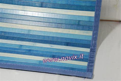 tapis bambou bleu  cm