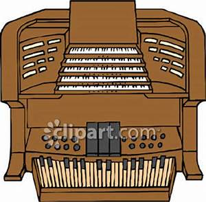 A Harmonium Organ - Royalty Free Clipart Picture
