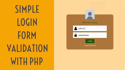 login form in php with session and validation login page in php with database and validation