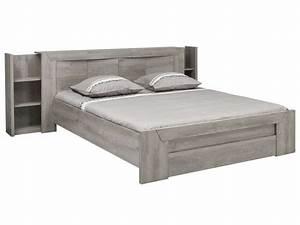 628ac0d33fd21 environnement pour lit 160 cm eden coloris ch ne gris vente de lit enfant  conforama