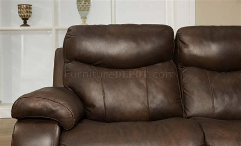 brown top grain premium leather modern reclining sofa