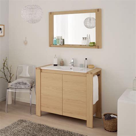 Ensemble Salle de Bain Natty Meuble Vasque + Miroir 100 cm