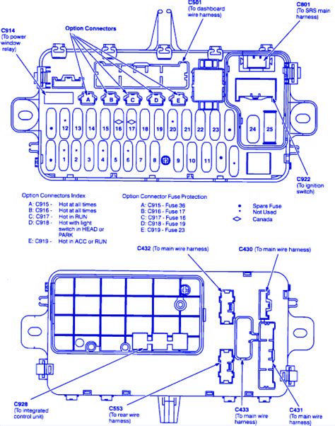 Honda Accord Fuse Diagram For 1992 by Honda Prelude Vtec Blower 1999 Fuse Box Block Circuit