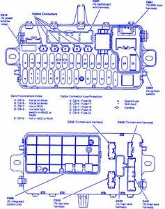 Honda Prelude Vtec Blower 1999 Fuse Box  Block Circuit Breaker Diagram