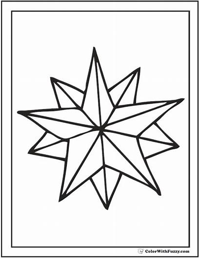 Star Coloring Nautical Pages Pdf Drawing Double