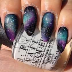 Galaxy nails on space nail art and