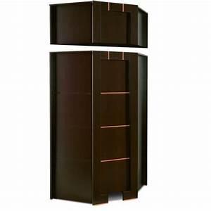 Meuble D Angle Moderne : armoire dressing d angle 1 porte moderne wenge avec ~ Teatrodelosmanantiales.com Idées de Décoration