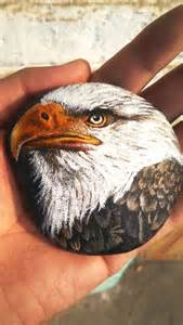 Bald Eagle Painted Rock