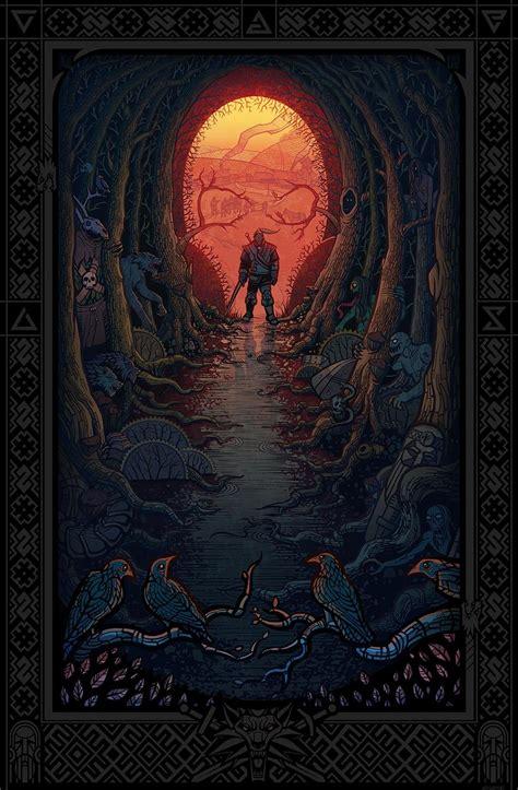witcher iii poster artwork  asycat witcher