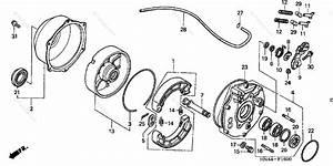 Honda Atv 2003 Oem Parts Diagram For Rear Brake    Panel