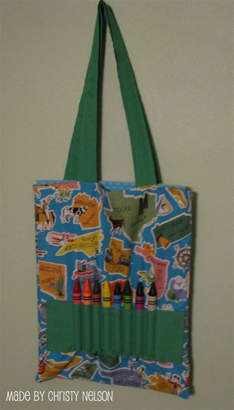 coloring book  crayon tote bag tutorial tutorial