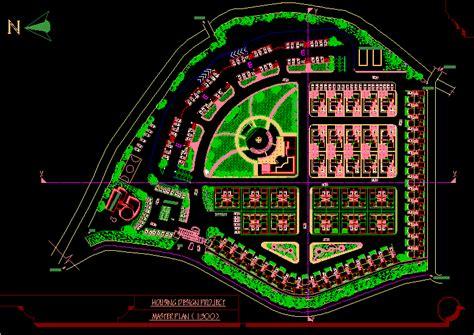 housing master plan dwg plan  autocad designs cad