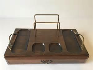 vintage wood valet men 39 s jewelry tray dresser organizer