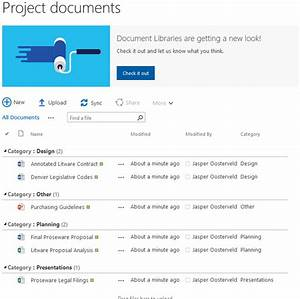 sharepoint online document libraries new improved my With document library sharepoint 365