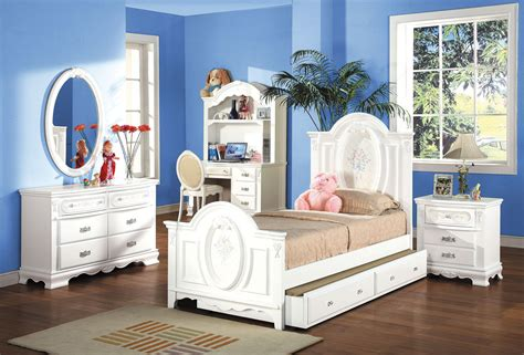 White Finish Twin Full Size Panel Bedroom Set 01677f