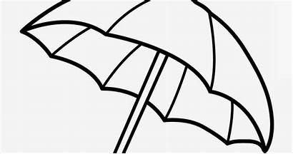 Umbrella Beach Coloring Pages Printable Drawing Template