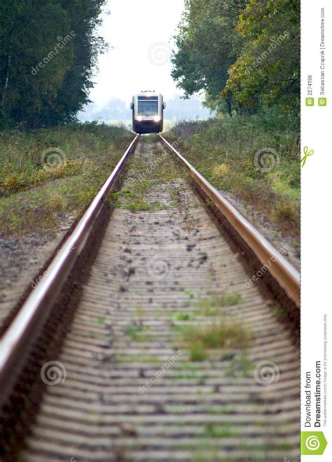 Train approaching stock photo. Image of steel, distance
