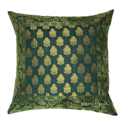 Silk Decorative Pillows by Decorative Silk Brocade Throw Floral Pillow Cover