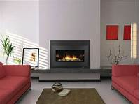 modern gas fireplaces HEAT & GLOW COSMO-I30 MODERN GAS FIREPLACE INSERT DIRECT VENT