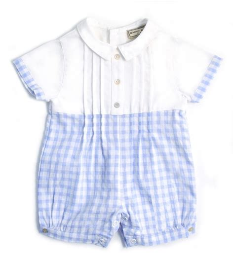 baby boy jumpsuit baby boys romper sky gingham baby boy
