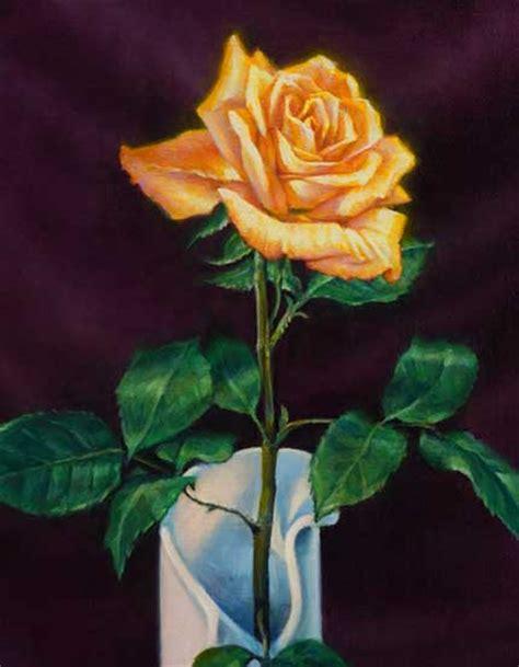 rosen malen blueten realistisch malen mit oelfarben