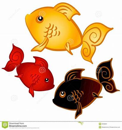 Clip Goldfish Swimming Clipart Gold Fishes Illustration