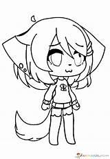 Gacha Coloring Pages Anime Printable Kawaii Dibujos Characters Coloriage Drawings Con Wolf Para Colorear Pintar Dibujar Personajes Boys Facil Easy sketch template