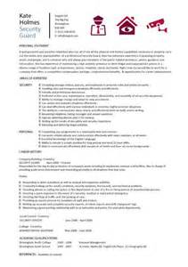 security resume templates guard security officer resume