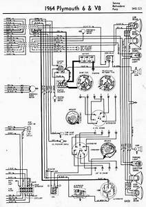 wiring diagrams of 1964 plymouth 6 and v8 savoy belvedere With wiring diagrams of 1965 plymouth 6 and v8 valiant and barracuda part 1