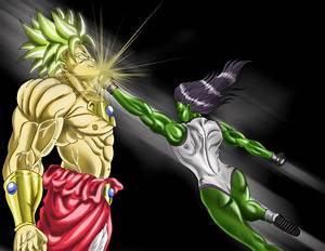 she hulk vs broly by wachiturro on DeviantArt
