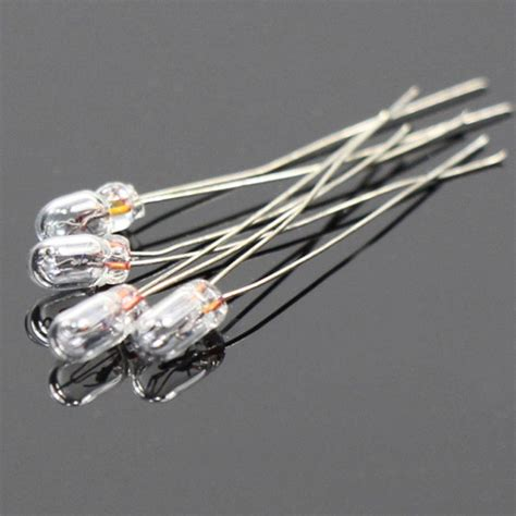 100pcs clear 2 5mm 12v 40ma miniature grain of wheat bulbs