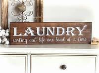 laundry room wall decor Laundry Room Decor Farmhouse Laundry Sign laundry room