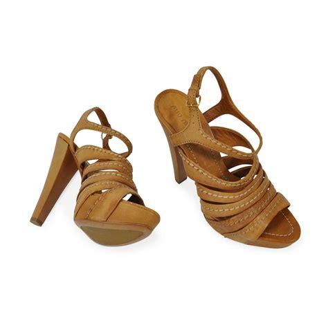 Sepatu Miu Miu 2 authentic second miu miu multi stitched sandals