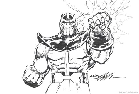 avengers infinity war coloring pages thanos  neal adams