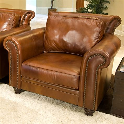 paladia leather club chair in rustic brown dcg stores