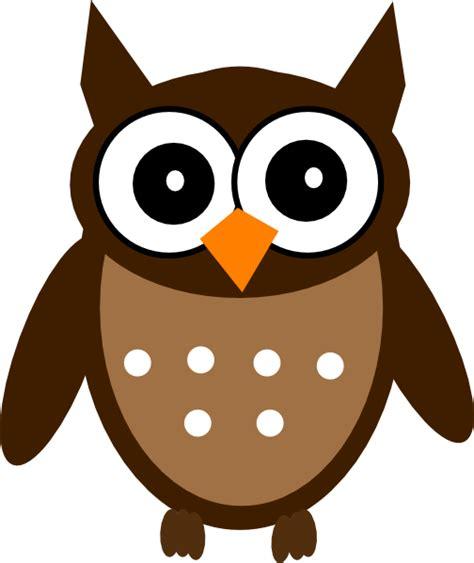 owl clipart brown owl clip at clker vector clip