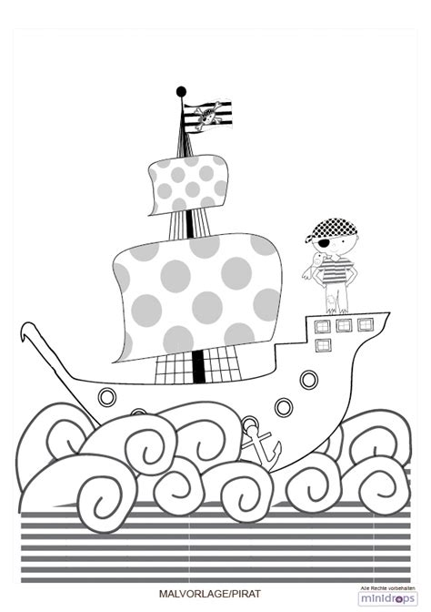 malvorlage pirat kindergeburtstagblog minidrops
