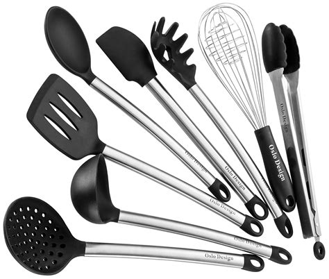 utensils cooking kitchen utensil silicone tools spoon egg spatula serving nonstick ladle pot piece amazon cookware gift stainless steel mom
