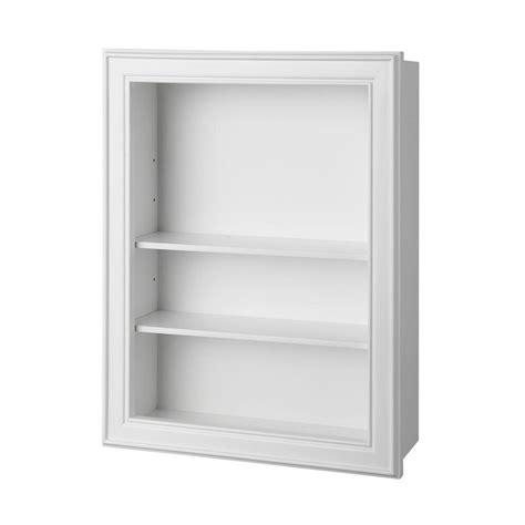 white two shelf home decorators collection gazette 18 1 2 in w wall shelf
