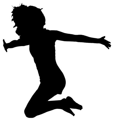 OnlineLabels Clip Art - Woman Jumping For Joy Silhouette