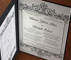 invitation folios a classy presentation letterpress With wedding invitations in french language