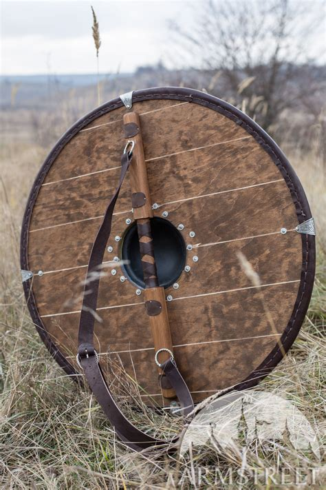 painted viking shield  etched accents  sale