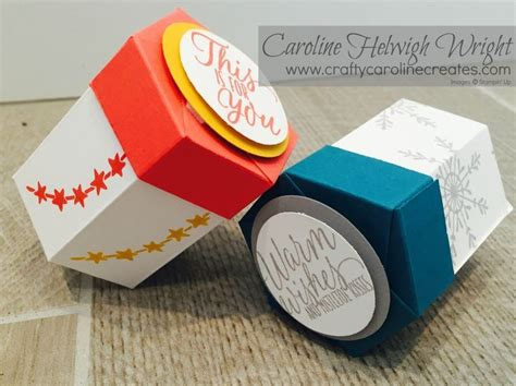 Lidded Box Template by Mini Hexagonal Lidded Gift Box Using Tin Of Tags By