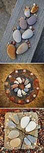25 diy home decor ideas using pebbles and river rocks