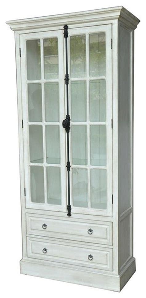 Coventry White Oak 2 Door Curio CVFZR1461   Farmhouse