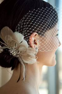 Bridal Fascinator Feather Wedding Head Piece Feather